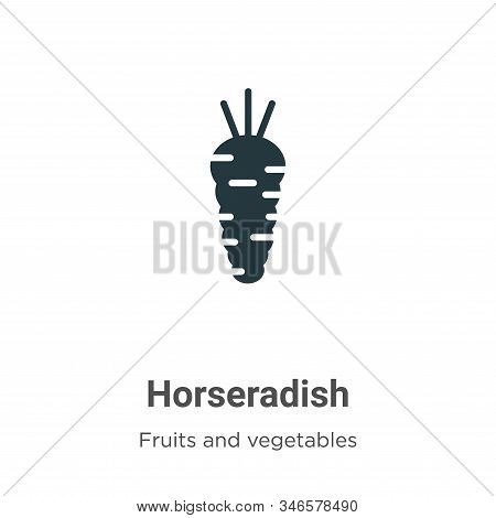 Horseradish icon isolated on white background from fruits collection. Horseradish icon trendy and mo