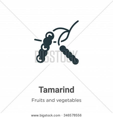 Tamarind icon isolated on white background from fruits collection. Tamarind icon trendy and modern T