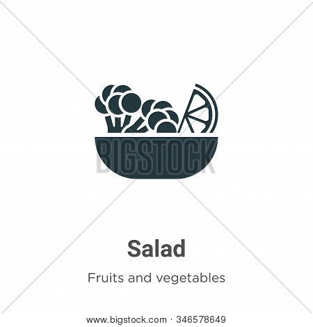 Salad icon isolated on white background from fruits collection. Salad icon trendy and modern Salad s