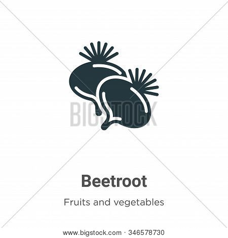 Beetroot icon isolated on white background from fruits collection. Beetroot icon trendy and modern B