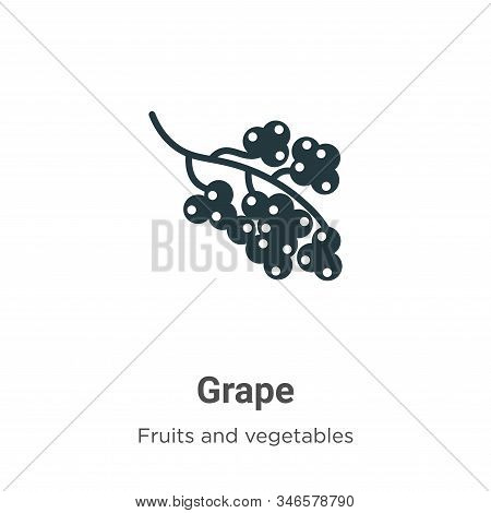 Grape icon isolated on white background from fruits collection. Grape icon trendy and modern Grape s