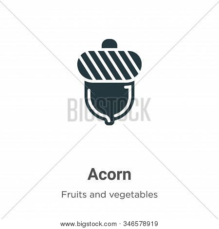 Acorn icon isolated on white background from fruits collection. Acorn icon trendy and modern Acorn s
