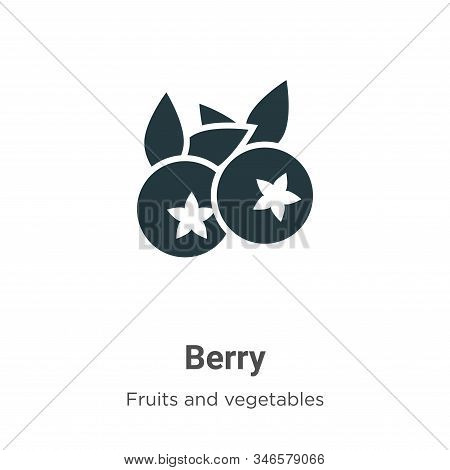 Blueberry icon isolated on white background from fruits collection. Blueberry icon trendy and modern