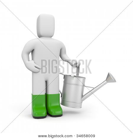 Person hold watering can