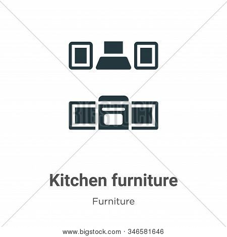 Kitchen Furniture Glyph Icon Vector On White Background. Flat Vector Kitchen Furniture Icon Symbol S