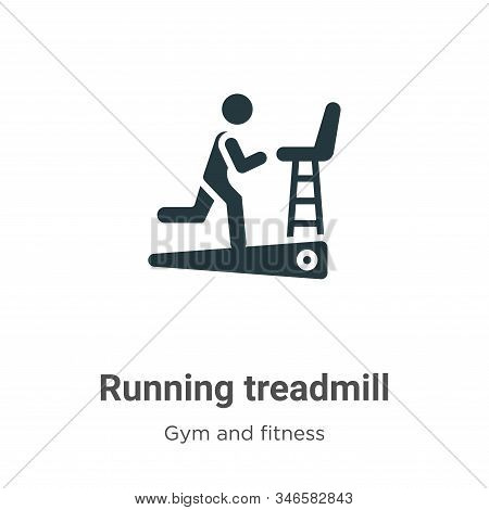 Running treadmill icon isolated on white background from gym and fitness collection. Running treadmi