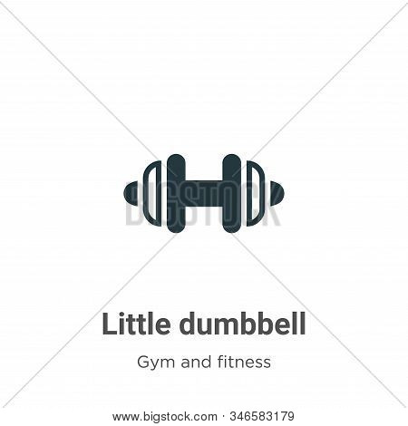 Little dumbbell icon isolated on white background from gym and fitness collection. Little dumbbell i