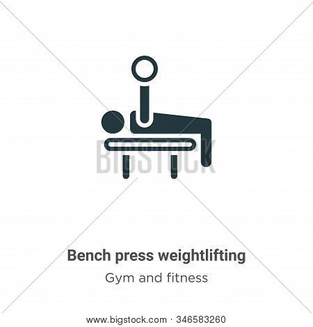 Bench press weightlifting icon isolated on white background from gym and fitness collection. Bench p