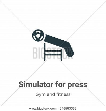 Simulator for press icon isolated on white background from gym and fitness collection. Simulator for