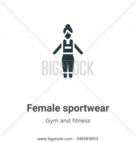Female sportwear icon isolated on white background from gym and fitness collection. Female sportwear