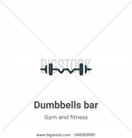 Dumbbells bar icon isolated on white background from gym and fitness collection. Dumbbells bar icon