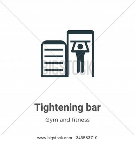 Tightening Bar Glyph Icon Vector On White Background. Flat Vector Tightening Bar Icon Symbol Sign Fr
