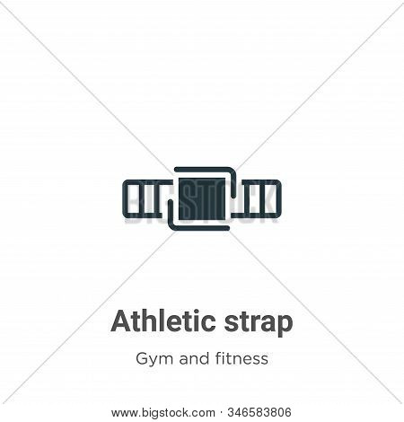 Athletic Strap Glyph Icon Vector On White Background. Flat Vector Athletic Strap Icon Symbol Sign Fr