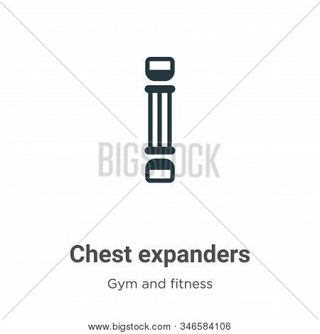 Chest expanders icon isolated on white background from gym and fitness collection. Chest expanders i