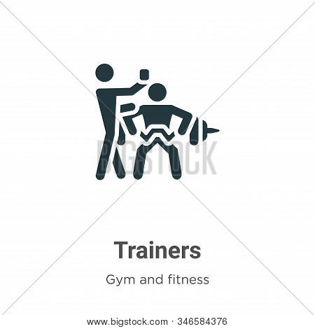Trainers icon isolated on white background from gym and fitness collection. Trainers icon trendy and