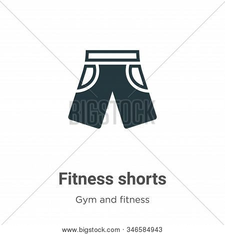 Fitness shorts icon isolated on white background from gym and fitness collection. Fitness shorts ico