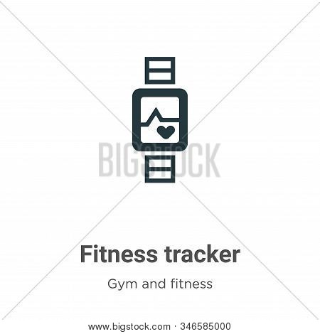 Fitness tracker icon isolated on white background from gym and fitness collection. Fitness tracker i