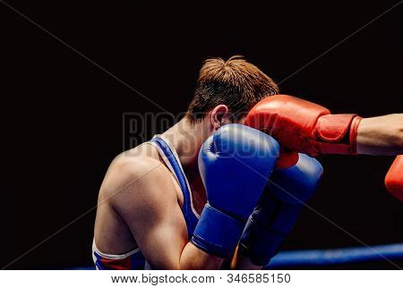 Close Up Left Jab To Head In Boxing Match