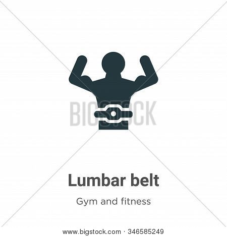 Lumbar belt icon isolated on white background from gym and fitness collection. Lumbar belt icon tren
