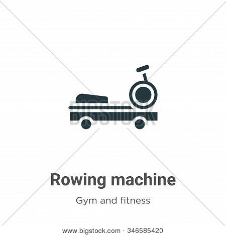 Rowing Machine Glyph Icon Vector On White Background. Flat Vector Rowing Machine Icon Symbol Sign Fr