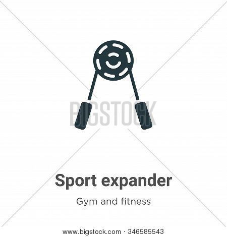 Sport expander icon isolated on white background from gym and fitness collection. Sport expander ico