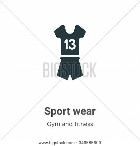 Sport wear icon isolated on white background from gym and fitness collection. Sport wear icon trendy