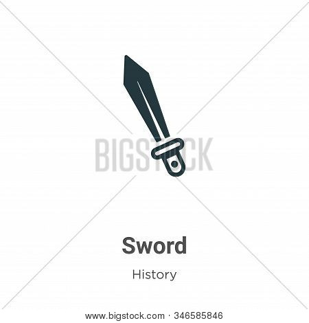 Sword icon isolated on white background from history collection. Sword icon trendy and modern Sword