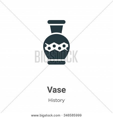 Vase icon isolated on white background from history collection. Vase icon trendy and modern Vase sym