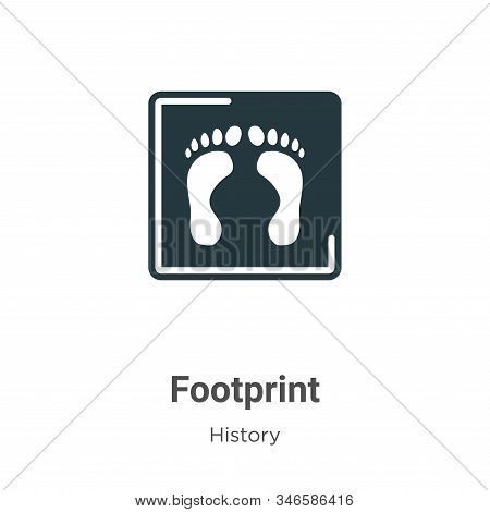 Footprint icon isolated on white background from history collection. Footprint icon trendy and moder