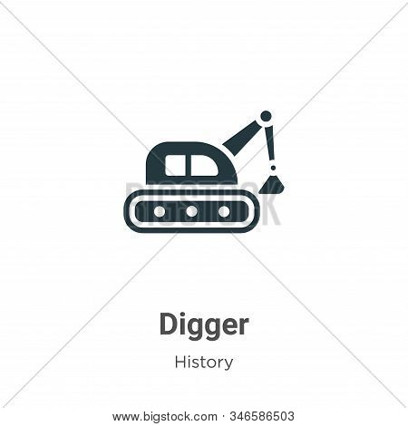 Digger icon isolated on white background from history collection. Digger icon trendy and modern Digg