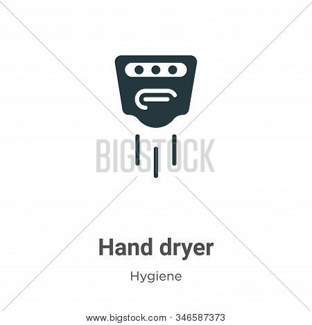 Hand dryer icon isolated on white background from hygiene collection. Hand dryer icon trendy and mod
