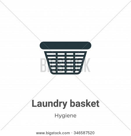 Laundry basket icon isolated on white background from hygiene collection. Laundry basket icon trendy