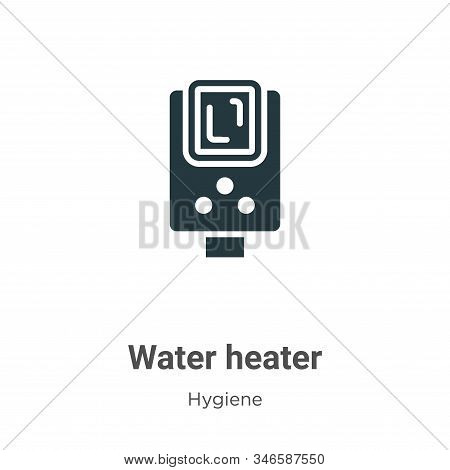 Water heater icon isolated on white background from hygiene collection. Water heater icon trendy and