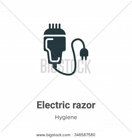 Electric razor icon isolated on white background from hygiene collection. Electric razor icon trendy