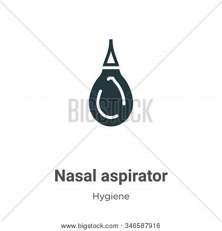 Nasal aspirator icon isolated on white background from hygiene collection. Nasal aspirator icon tren