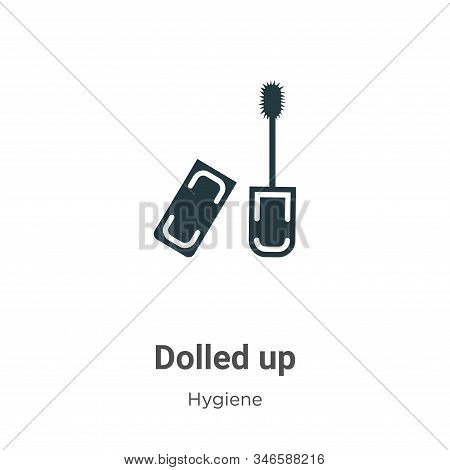 Dolled up icon isolated on white background from hygiene collection. Dolled up icon trendy and moder
