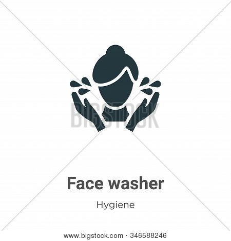 Face washer icon isolated on white background from hygiene collection. Face washer icon trendy and m