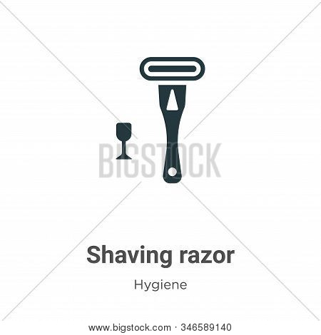 Shaving razor icon isolated on white background from hygiene collection. Shaving razor icon trendy a