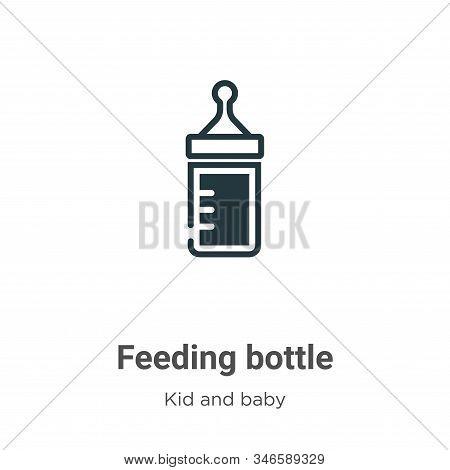 Feeding Bottle Glyph Icon Vector On White Background. Flat Vector Feeding Bottle Icon Symbol Sign Fr