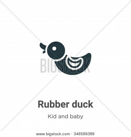 Rubber duck icon isolated on white background from kid and baby collection. Rubber duck icon trendy