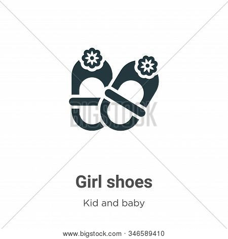 Girl shoes icon isolated on white background from kid and baby collection. Girl shoes icon trendy an