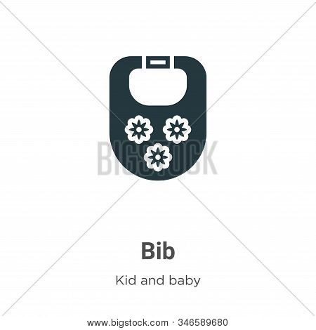 Bib icon isolated on white background from kid and baby collection. Bib icon trendy and modern Bib s