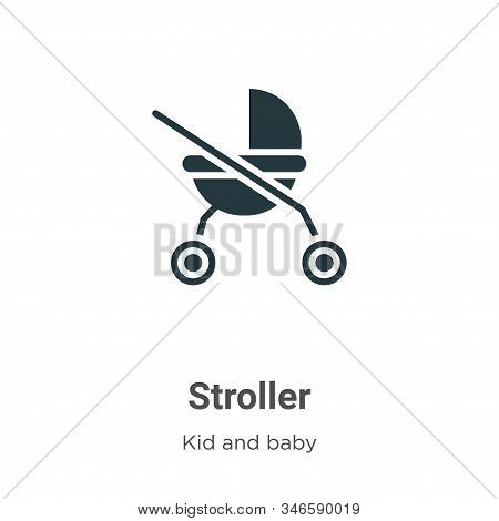 Stroller icon isolated on white background from kid and baby collection. Stroller icon trendy and mo