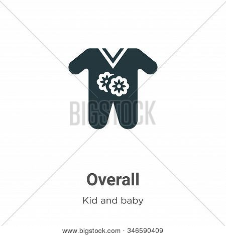 Overall icon isolated on white background from kid and baby collection. Overall icon trendy and mode