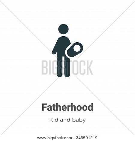 Fatherhood icon isolated on white background from kids and baby collection. Fatherhood icon trendy a