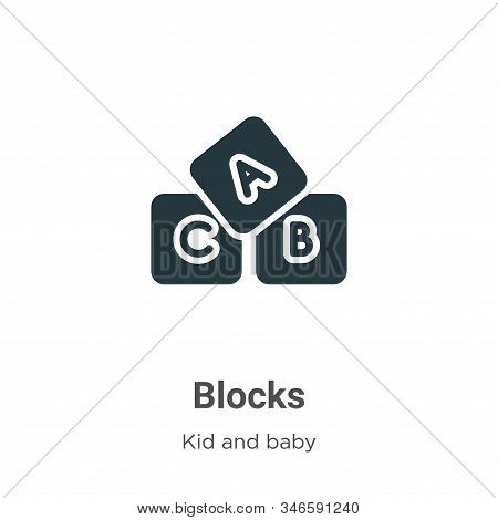 Blocks icon isolated on white background from kids and baby collection. Blocks icon trendy and moder