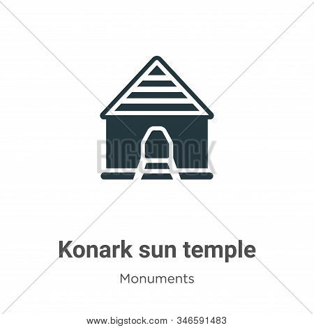 Konark sun temple icon isolated on white background from monuments collection. Konark sun temple ico