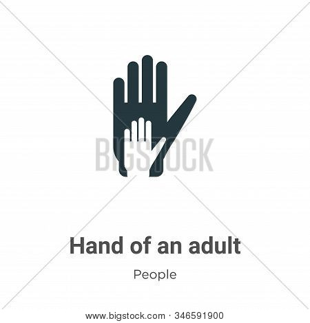 Hand of an adult icon isolated on white background from people collection. Hand of an adult icon tre