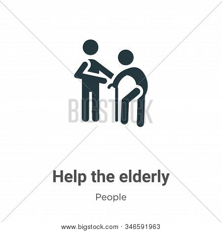 Help the elderly icon isolated on white background from people collection. Help the elderly icon tre