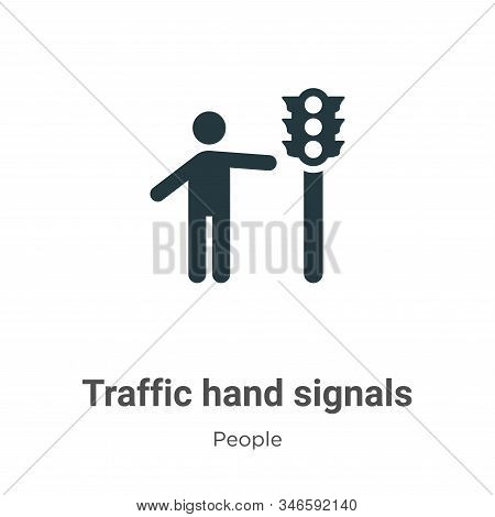 Traffic hand signals icon isolated on white background from people collection. Traffic hand signals